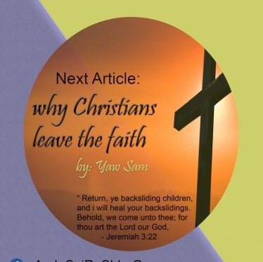 Why Christians Leave The Faith