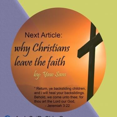 Why Christians Leave The Faith